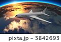 ジェット機 航空 乗り物のイラスト 3842693