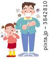 風邪 咳 ウイルスのイラスト 3842810