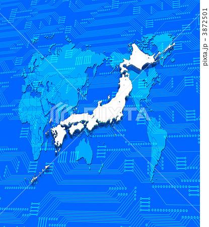 立体地図 の写真・イラスト ... : 日本の地方区分 地図 : 日本