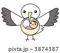 コウノトリと赤ちゃん 3874387