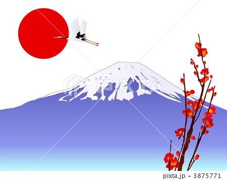 富士山と初日の出のイラスト素材 3875771 Pixta