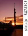 初日の出 朝日 東京スカイツリーの写真 3878395