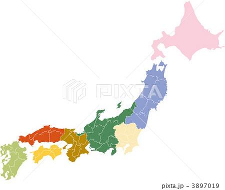 イラスト素材: 日本地図 県境 ... : 世界地図 ダウンロード 無料 : 世界地図