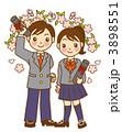 卒業 卒業式 高校生のイラスト 3898551