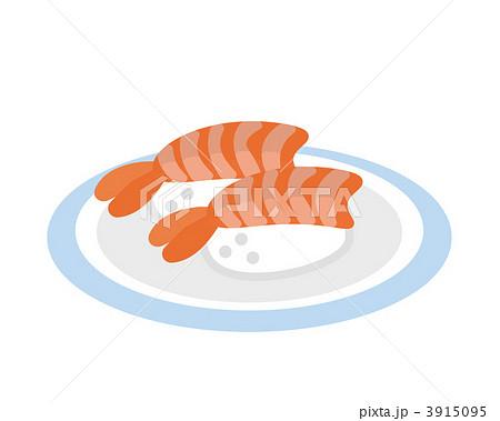 えび寿司 海老鮨 寿司のイラスト素材 3915095 Pixta