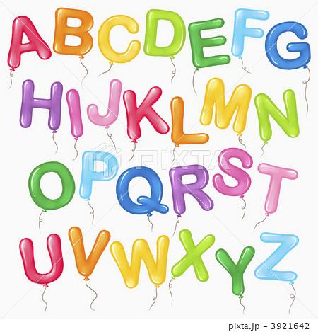 ローマ字 英語 アルファベットのイラスト素材 3921642 Pixta