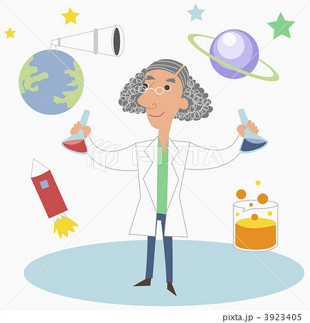 科学者 男 男性のイラスト素材 3923405 Pixta
