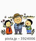 孫 男女 おじいちゃんのイラスト 3924006