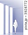 ビジネスウーマン 人物シルエット 女性のイラスト 3928772