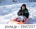 ソリ 雪遊び ウィンタースポーツの写真 3947257