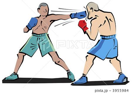 ボクシング 試合開始のイラスト素材 3955984 Pixta