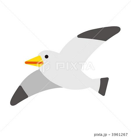 鳥 海鳥 カモメのイラスト素材 3961267 Pixta