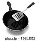 キッチン用品 フライパン フライ返しのイラスト 3961552