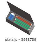 筆箱 消ゴム 鉛筆のイラスト 3968739