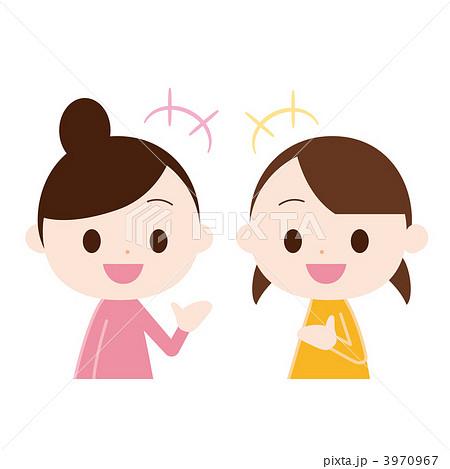 会話する女性二人のイラスト素材 3970967 Pixta