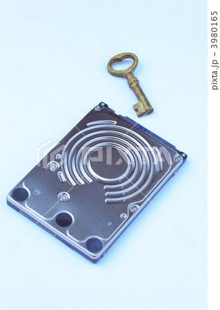 ハードディスクと鍵の写真素材 [3980165] - PIXTA