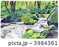河川 奥入瀬 奥入瀬渓流のイラスト 3984361
