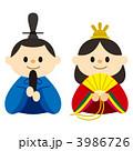 お内裏様 お雛様 ひな人形のイラスト 3986726