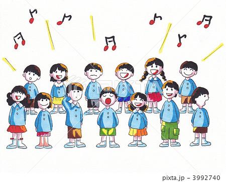 子供 音楽会のイラスト素材 3992740 Pixta