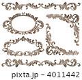 ベクター 飾り罫 フレームのイラスト 4011442