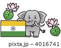 象とインド国旗 4016741
