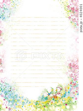便箋 イラスト ピクニックのイラスト素材 4024001 Pixta