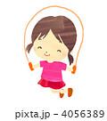 縄跳び 児童 子供のイラスト 4056389