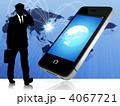 スマートフォン スマホ ネットワークのイラスト 4067721