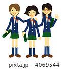 卒業 高校生 女子高生のイラスト 4069544
