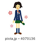 女子高生 卒業 生徒のイラスト 4070136