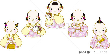 ひな祭り五人囃子のイラスト素材 4095366 Pixta