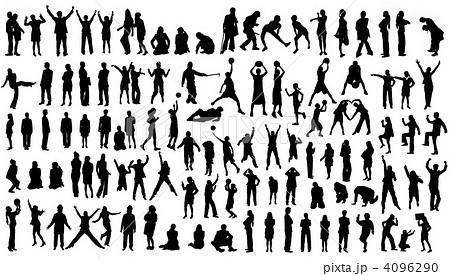 人物シルエット集 Part6のイラスト素材 4096290 Pixta