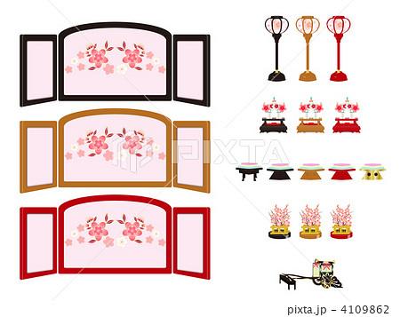 ひな祭りの素材のイラスト素材 4109862 Pixta