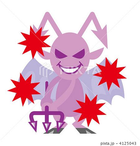 悪魔 表情 攻撃のイラスト素材 4125043 Pixta