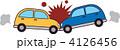 正面衝突 衝突 乗用車のイラスト 4126456