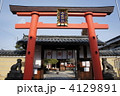 神社 御霊神社 鳥居の写真 4129891