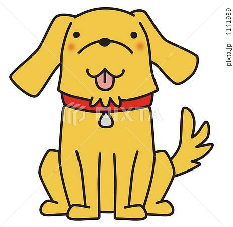 おすわり犬のイラスト素材 4141939 Pixta