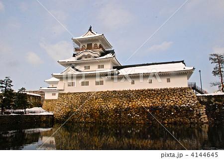 雪の富山城(富山城址公園/富山県富山市丸の内) 4144645