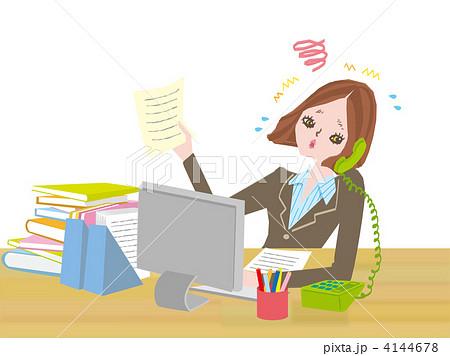忙しく働く女性 4144678