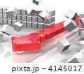 ブレークスルーのイメージを表す3DCGイラスト 4145017