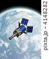 通信衛星 太陽光発電 人工衛星のイラスト 4148282