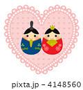 お雛様 雛飾り ひな人形のイラスト 4148560