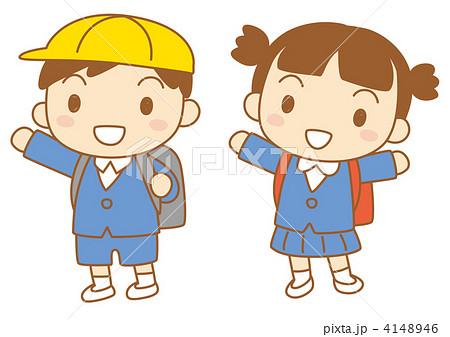 小学生 制服のイラスト素材 4148946 Pixta