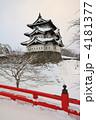 冬の弘前城 4181377