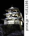 冬の弘前城ライトアップ 4181386