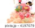 雛あられと和菓子の雛人形 4197079