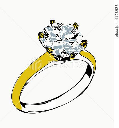 ダイヤモンドリングのイラスト素材 4198928 Pixta