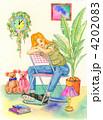 うたた寝 休息 女性のイラスト 4202083