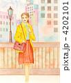 ビジネスウーマン 働く女性 オフィスレディのイラスト 4202101