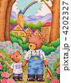 熊 親子 動物のイラスト 4202327
